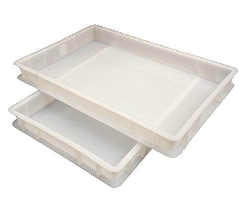De plástico de calidad alimentaria apilables de masa de Pizza en bandejas de panadería - de calidad comercial! 12 litros apilable - envases de polietileno ...