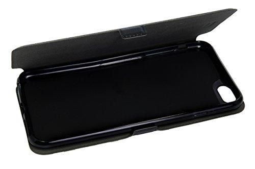 handy-point Buchhülle mit Aufstellfunktion Klapptasche in Buchform Klapphülle Book Case Tasche Buch Hülle mit flexibler Gummischale mit Fach für EC-Karte Kartenfach Flip Case für iPhone 6 Plus 6S Plus