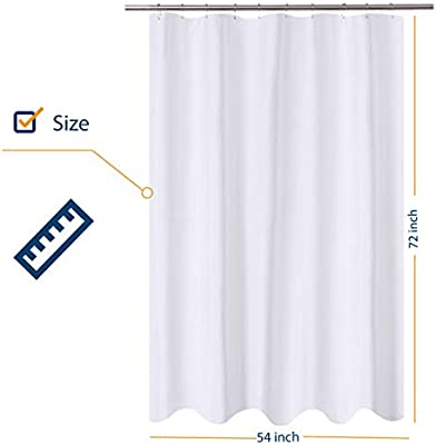 Wash Hotel Quality Fabric Shower Curtain Liner 54 x 78 inches Bath Stall Size