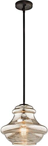 Cheap Kichler 42044OZMER Everly Pendant 1-Light, Olde Bronze