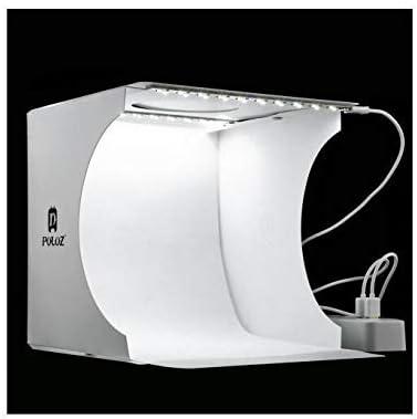PULUZ 24cmx23cmx22cm include 2 LeD Panels Folding Portable Light Photo Lighting Studio Shooting Tent Box Kit with 6 Colors Backdrops