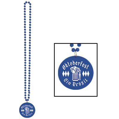 Beads w/Printed Oktoberfest Medallion (1/Card)