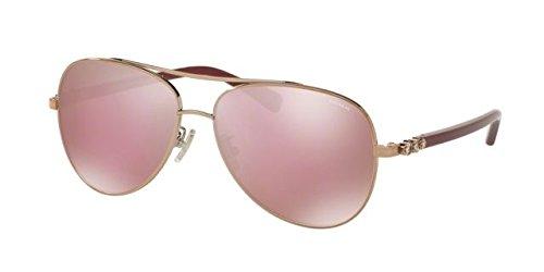 Coach Women's HC7072B Sunglasses Rose Gold/Aubergine / Pink Solid Mirror - Glasses Coach Pink