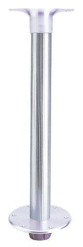 Garelick 75340:01 Table Pedestal for Smaller Boats - Flush Mount Base with Fluted Anodized Tube