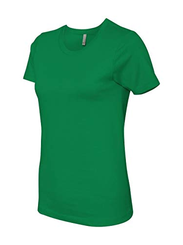 (Next Level Apparel 3900 Ladies Cotton Boyfriend T-Shirt44; Kelly Green44;)
