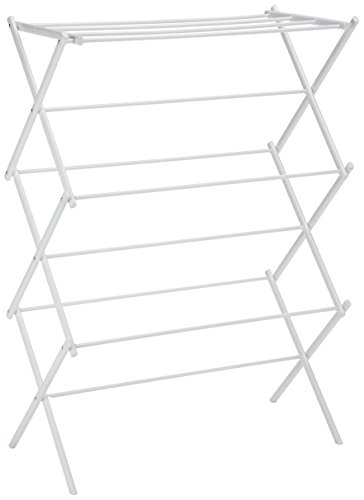 AmazonBasics Foldable Clothes Drying Laundry Rack - White - - Bathtub Inside Mount