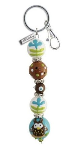 Hand Painted Glass Beaded Keychains-Ladybug, Owl, Cupcake and More!! (Little (Glass Beaded Ladybug)