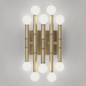 Robert Abbey Brass Sconce (Robert Abbey 686 Sconces with Shades, Antique Brass Finish)