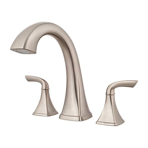 Pfister RT6-5BSK-R Bronson 2-Handle Complete Roman Tub Trim in Brushed Nickel (Renewed) ()