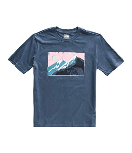 The North Face Kids Boy's Short Sleeve Graphic Tee (Little Kids/Big Kids) Shady Blue Medium
