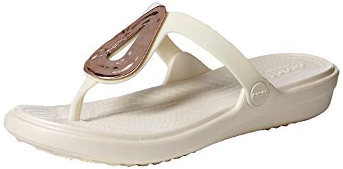 Crocs - Womens Sanrah Liquid Metallic Flat Flip