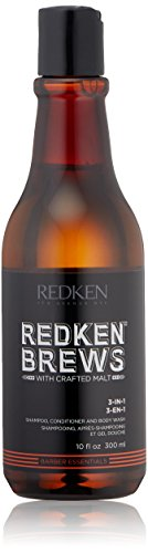 Redken Brews 3-in-1 Shampoo, 10.1 fl. oz. by Redken Brews