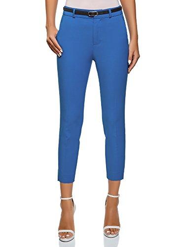 Ultra Azul Mujer Clásicos Pantalones Oodji 7500n Cinturón Con d678wp