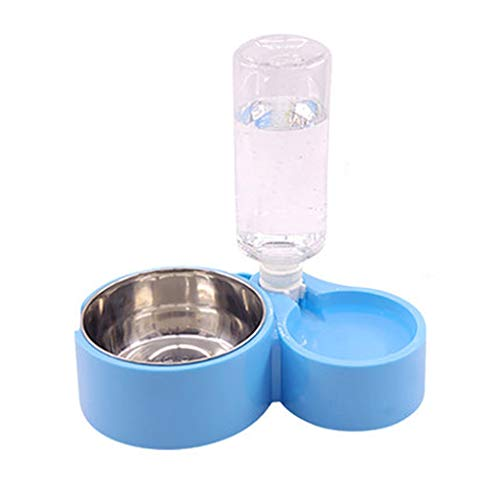 Rice Bowl Sky - Yysunglasses Cat Bowl Double Bowl Dog Bowl Dog Bowl Hanging Fixed Cage Pet Bowl Automatic Drinking Bowl Cat Rice Bowl Automatic Drinking Water Cute Large-Capacity Pet Supplies (Color : Sky Blue)