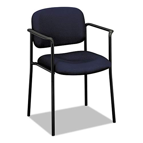 Hon Stacking Chair - HON Scatter Guest Chair with Arms, Office Furniture, Navy (VL616)