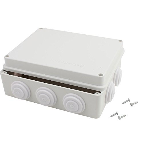 Awclub ABS Plastic Dustproof Waterproof IP65 Junction Box Universal Electrical Project Enclosure White 8''x6.2''x3.2''(200mmx155mmx80mm) by Awclub