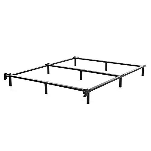 NOAH MEGATRON King Size Metal Bed Frame-7 Inch Heavy Duty Bedframe, 9-Leg Support for Box Spring & Mattress Foundation, 3000LBS, Black