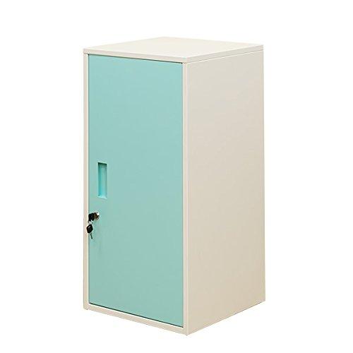 キューブBOX鍵付ロッカーハイタイプ 扉付き収納 ブルー JAC-06BL B079ZJVSKY