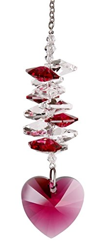Woodstock Passion Crystal Heart Cascade Suncatcher- Rainbow Maker Collection -