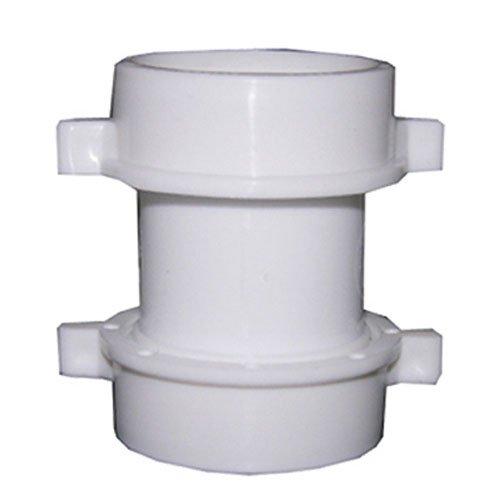 LASCO 03-4271 White Plastic Tubular 1-1/2-Inch Slip Joint Both Ends Coupling (Joint Coupling Slip)