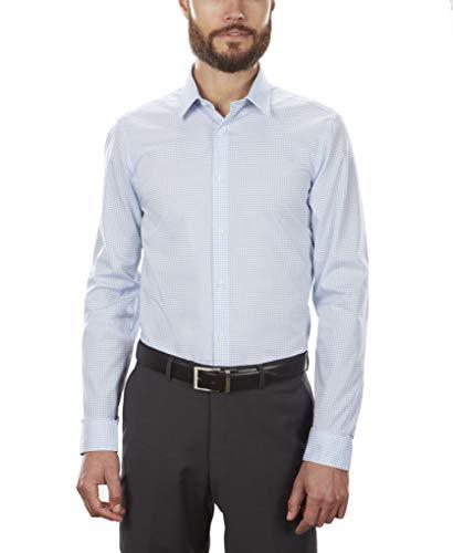 Calvin Klein Men's Dress Shirt Non Iron Stretch Slim Fit Check 2