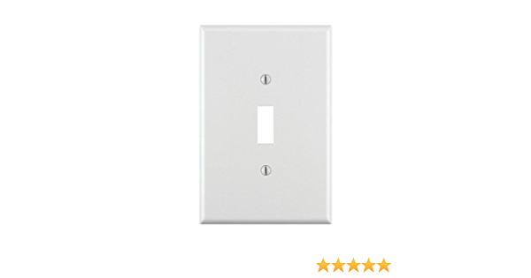 Leviton 88101 1 Gang Toggle Device Switch Wallplate Oversized Thermoset Device Mount White Switch Plates Amazon Canada