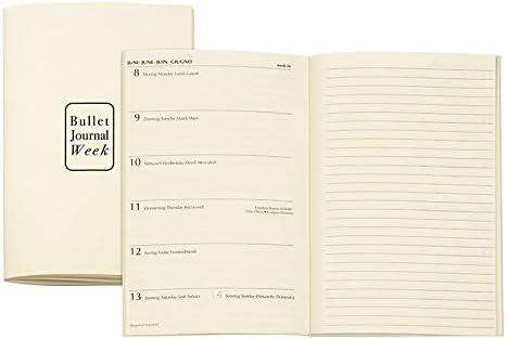 N1015R7 10 x 15 cm Set di 2 inserti per agenda Week /& Ivory Bullet Journal colore: Beige