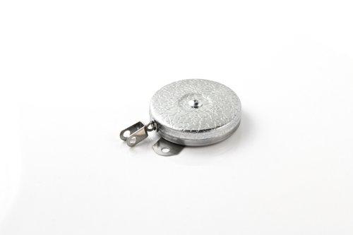 Key-Bak Industrial retráctil carrete con 61cm Cadena de acero inoxidable, soporte de acero Back, cromado Front, de...