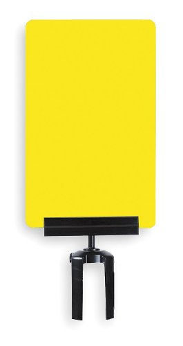 11'' x 7'' Acrylic Sign Frame for Tensabarrier Post Type of Sign: No Entry / Yellow / Black writing by Tensator