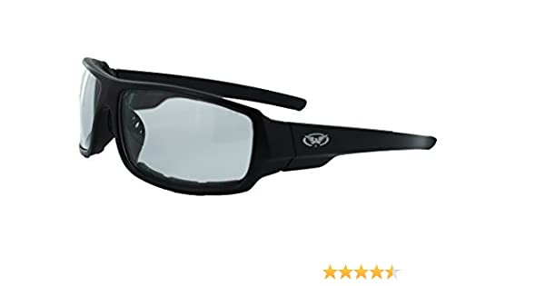 3afb2011b2e6 Amazon.com   Global Vision Eyewear Italiano Plus Series Sunglasses with  Matte Black Frame and Clear Safety Lenses   Sports   Outdoors