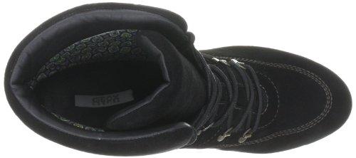 Geox Donna Ayana Stivali - Botines de cuña con cordones, talla: Negro, color: 38 Negro (Schwarz (black C9999))