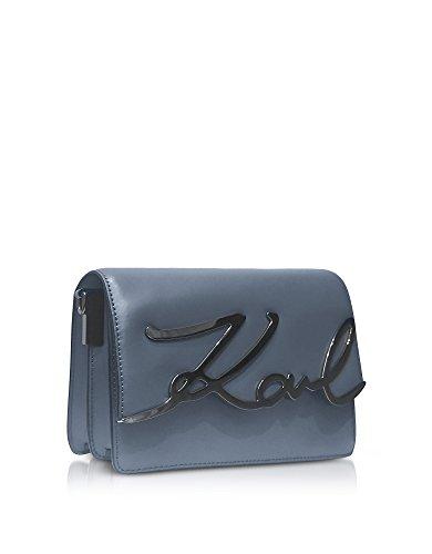 Karl Lagerfeld Borsa A Spalla Donna 76KW3038GRAPHITE Pelle Grigio