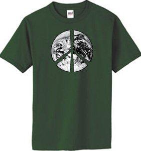 anic Cotton Adult T-shirt - City Green, Medium (Peace Sign Organic Cotton Tee)