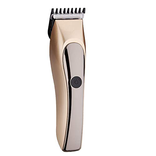 Rechargeable Hair Clipper Washable Trimmer Bread Shaver Grooming Men Child 110-240V - Hair Styling Tools & Salon Electric Hair Clipper - (Gold) - 1 x Electric Hair -