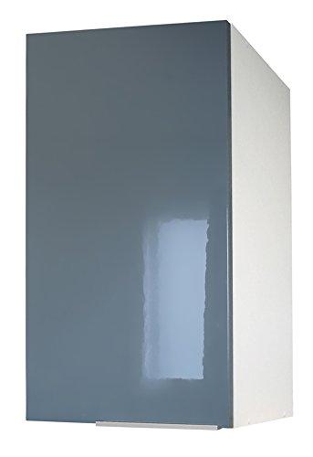 Berlenus CP4HG - Mueble Alto de Cocina con 1 Puerta (40 cm), Color Gris Brillante