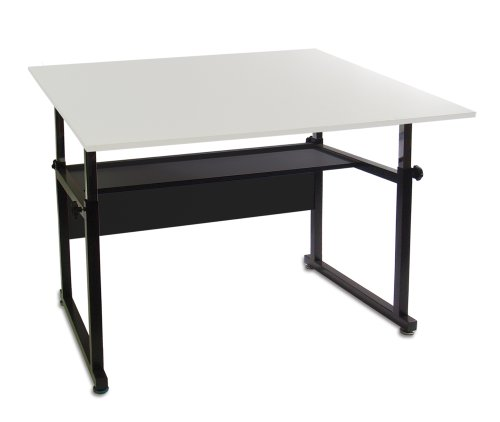 Martin Ridgeline Professional Drafting-Art Table, Black with White Top, 36-Inch by 48-Inch Surface by Martin