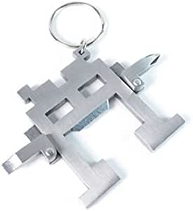 Kikkerland CD14 Space Intruder Multi-Tool Keychain