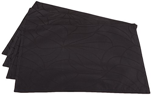 Cuisinart Easy Care Spill-Proof Formal Microfiber Fabric Rectangle Placemat 13 x 19 inch, 4-pack, - Formal Place