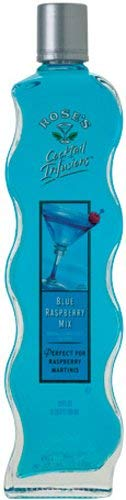 Rose's Blue Raspberry Infusions, 20-Ounce Glass Bottles (Pack of 9)