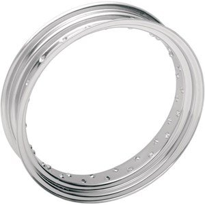 (Drag Specialties Chrome 40 Spoke Custom Spun Steel Rim - 16x3.5)