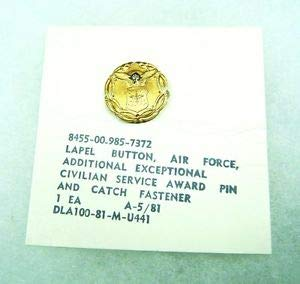Air Force Decoration for Exceptional Civilian Service Medal, Lapel pin w/Diamond by HighQ Store