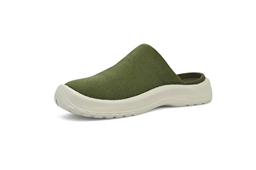 SoftScience The Daisy Canvas Comfort Casual Female Shoes Sage (Daisy Clog)