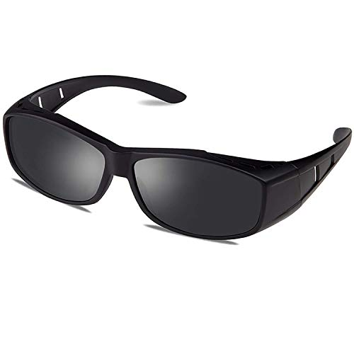 Wear Over Glasses Sunglasses - Polarized - Fit Over Prescription Glasses UV Protection Sunglasses by VEPOWER
