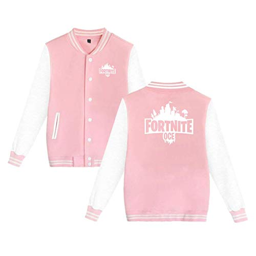 Uniform Varsity - for tnite Casual Baseball Jacket Varsity Uniform Boys Youth Adult Sweater Coat, Pink