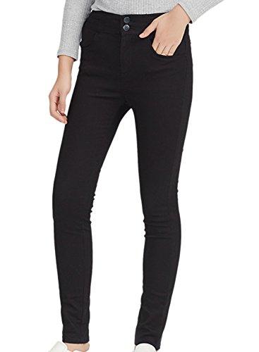 meters-bonwe-womens-high-waist-2-button-solid-skinny-pencil-pants-black-m
