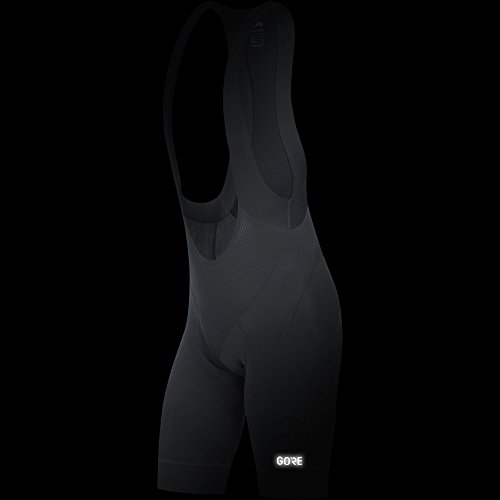 GORE Wear C5 Bib Shorts + 100192 Gore Bike Wear Color: Black//White GORE Wear Mens Breathable Road Bike Bib Shorts With Seat Insert Size: M