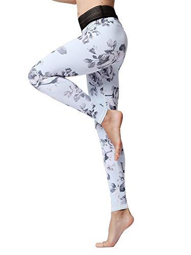 Gli Donne Vita Bianca Pantaloni A Sport Yoga Collant Alta Stampati Da Fitness Maglia Asciugatura Hinyyee Jogging Modelli Ghette Veloce ZUxd4Z