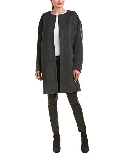 Vince Womens Reversible Wool & Cashmere-Blend Coat, M, Grey