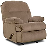 Simmons Upholstery U703-19 Harper Cocoa Rocker Recliner, Cocoa