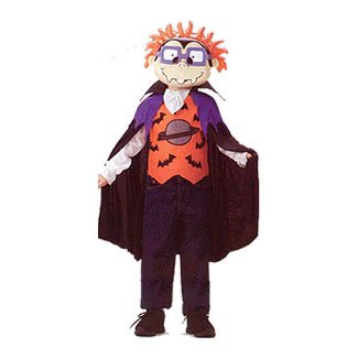 Rugrats Halloween (Chuckie of the Rugrats As a Vampire Dracula Halloween Costume Child Size S Small 2-4)